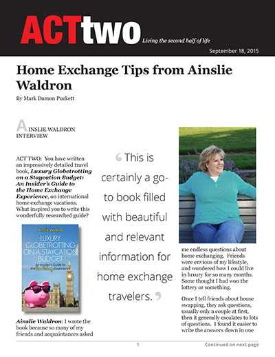 Home Exchange Tips from Ainslie Waldron